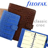 Filofax Classic Croc faux crocodile print personal organizers daytimers planners