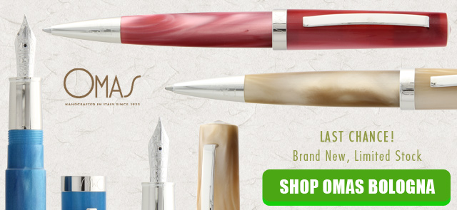 Limited Quantities of OMAS Bologna Fountain Pens and Ballpoints Available Exclusively at Goldspot Pens