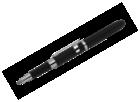 Fisher Bullet - Grip Stylus Black Capacitive w/ Clip Ballpoint Pen