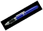 Fisher Bullet - Grip Stylus Blue Capacitive w/ Clip Ballpoint Pen
