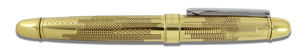 Acme Hybrid Collection Hatch Brass Antimicrobial  Rollerball Pen