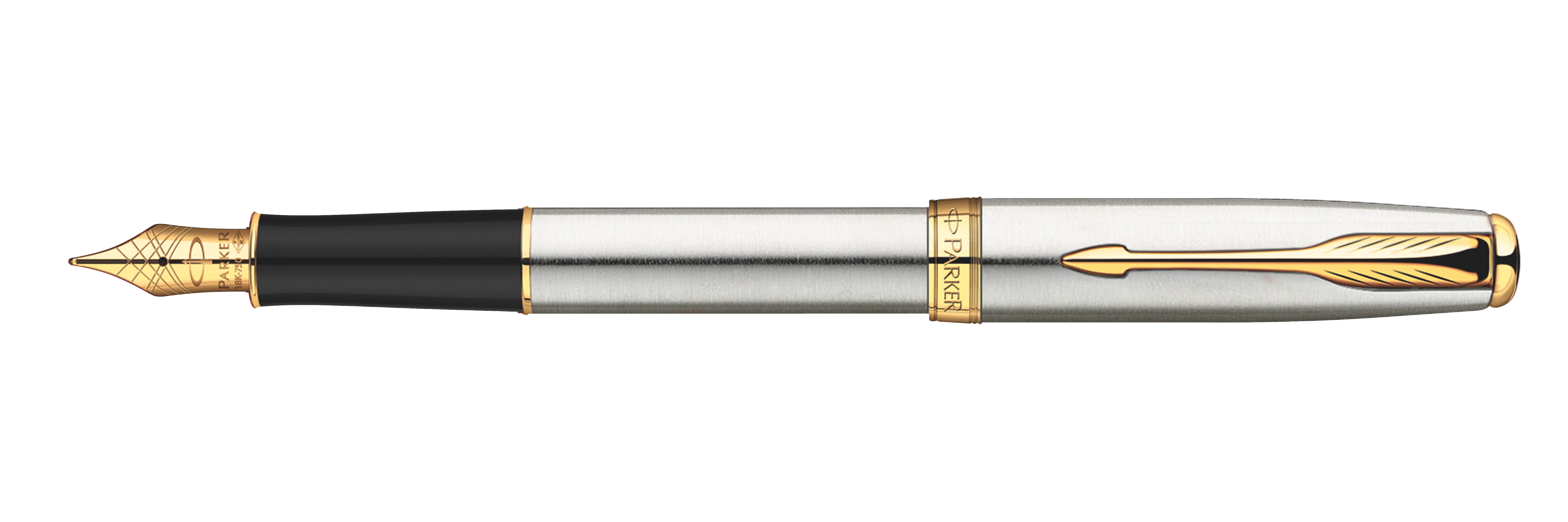 Parker Sonnet Original Stainless Steel GT - Med Pt Fountain Pen
