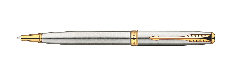 Parker Sonnet Original Stainless Steel GT - Free Refill Ballpoint Pen