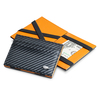 Dalvey Leather Carbon Fiber Black/Orange Flip Wallet