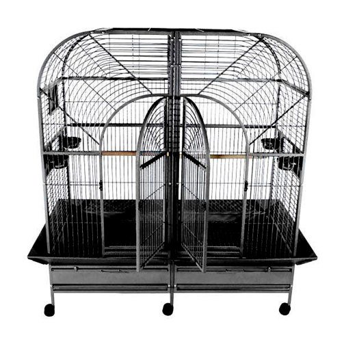Double Macaw Cage with Removable Divider