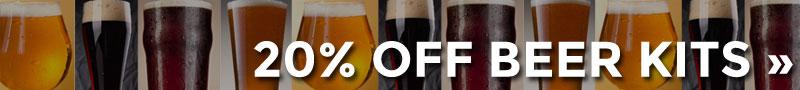 20% OFF Beer Kits
