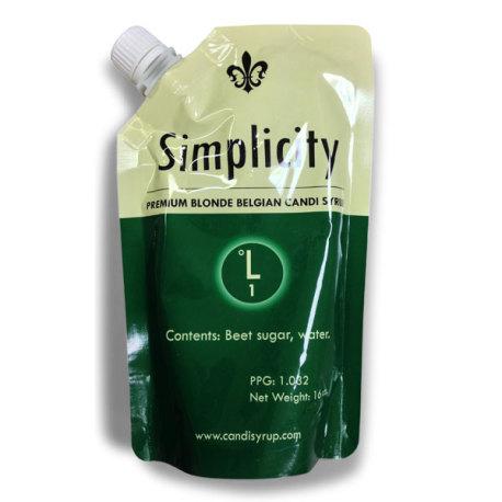 Simplicity Belgian Candi Syrup 1° L, 1 lb.