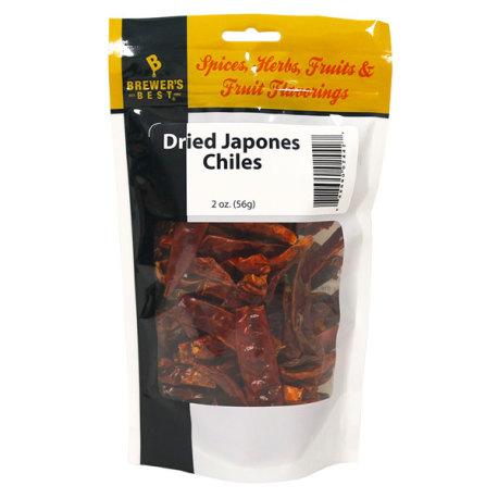 Dried Japones Chiles, 2 oz.