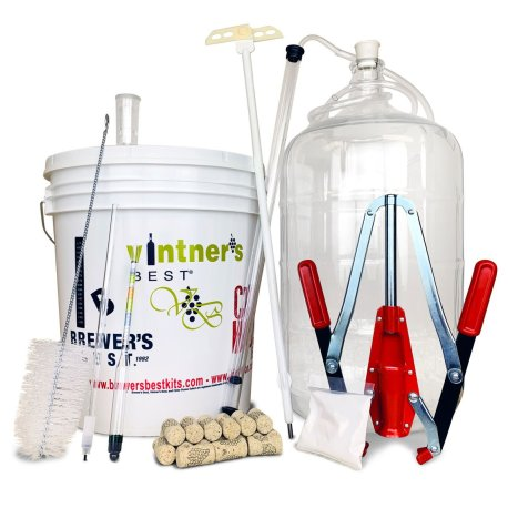 Deluxe Wine Making Equipment Kit - for Grape, Concentrate, and Fruit Wines