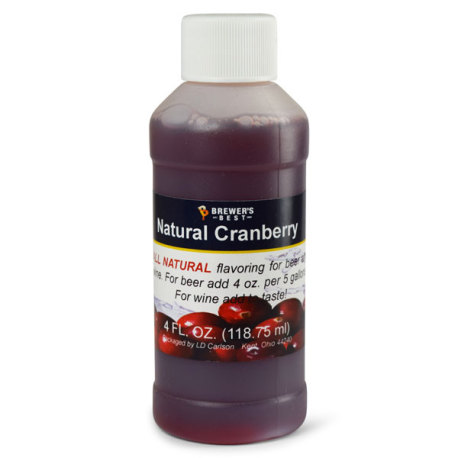 Cranberry Natural Flavoring, 4 fl oz.