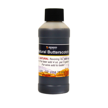 Butterscotch Natural Flavoring, 4 fl oz.