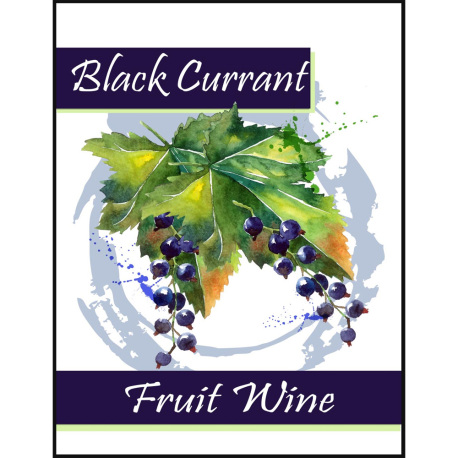 Black Currant Fruit Wine Self Adhesive Wine Labels, pkg of 30
