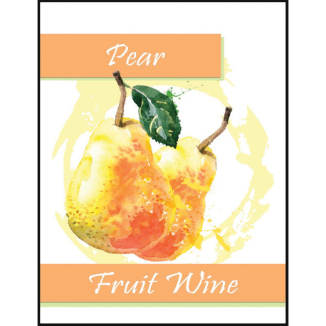 Pear Fruit Wine Self Adhesive Wine Labels, pkg of 30