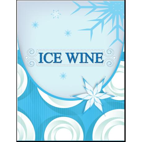 Ice Wine Self Adhesive Wine Labels, pkg of 30