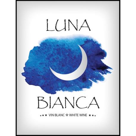 Luna Bianca Self Adhesive Wine Labels, pkg of 30