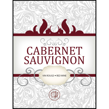 Cabernet Sauvignon Self Adhesive Wine Labels, pkg of 30