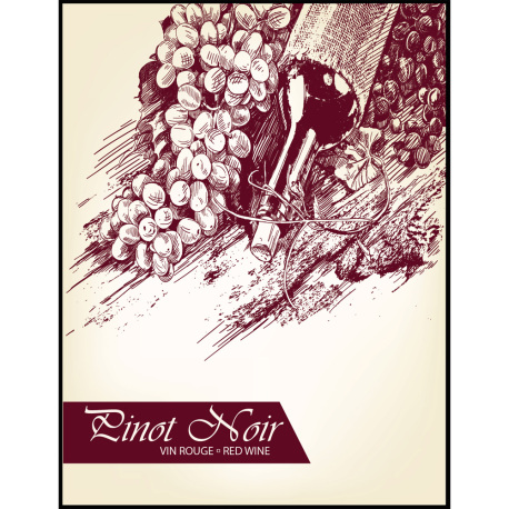 Pinot Noir Self Adhesive Wine Labels, pkg of 30