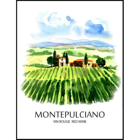 Montepulciano Self Adhesive Wine Labels, pkg of 30