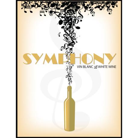 Symphony Self Adhesive Wine Labels, pkg of 30