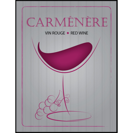 Carmenere Self Adhesive Wine Labels, pkg of 30