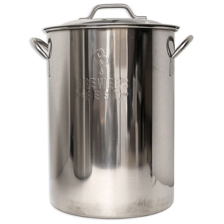 8 Gallon Stainless Brew Pot With Lid