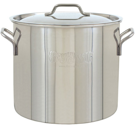 10 Gallon (40 QT) Bayou Classic Stainless Brew Pot with Lid
