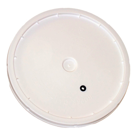 Lid for 2 Gallon Fermenting Bucket - Drilled with Grommet