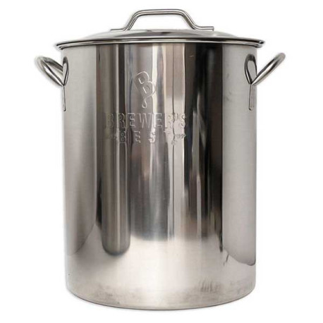 16 Gallon Brewer's Best Stainless Steel Brew Pot with Lid