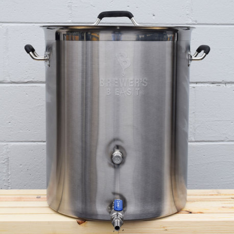 16 Gallon Brewer's BEAST Stainless Brew Kettle with Ball Valve