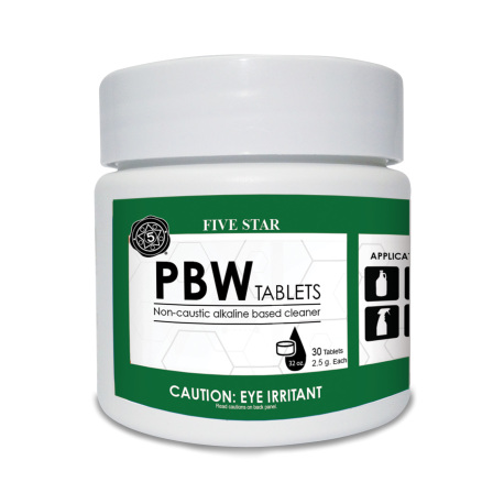 PBW Tablets, 30 tabs, 2.5g - for Growlers, Spray Bottles and Glassware