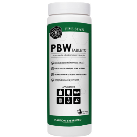 PBW Tablets, 40 tabs, 10g - for Kegs, Carboys and Fermenters