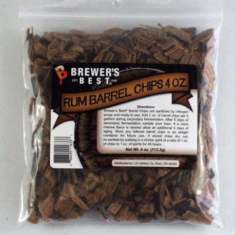 Rum Barrel Oak Chips, 4 oz