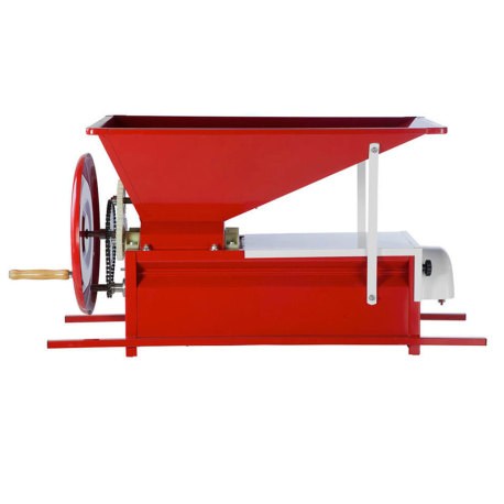 Manual Grape Crusher/Destemmer with Hopper - Painted
