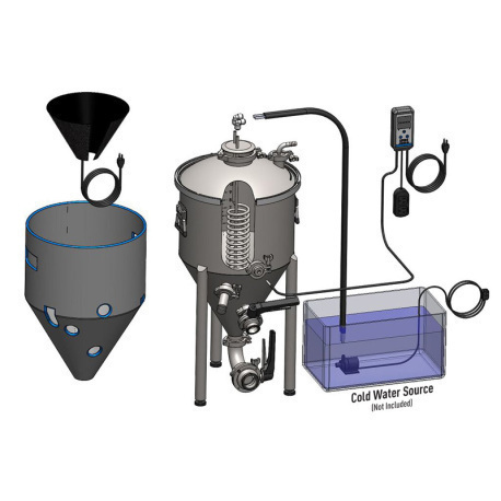 Spike Brewing TC-100 Temp Control Bundle for CF30 Conical Unitank with Heater
