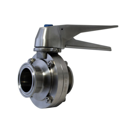 1 5 in  Tri-Clamp Butterfly Valve - 304 Stainless Steel