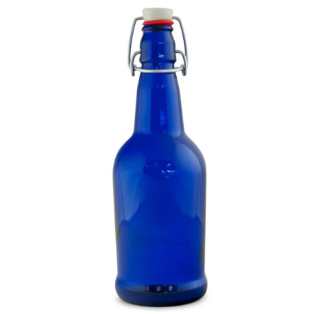 EZ Cap Bottles, Cobalt Blue (Case of 12)