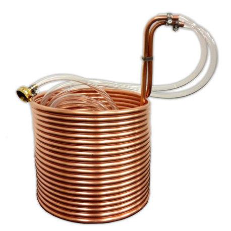 Jumbo Immersion Wort Chiller 50 Foot Copper