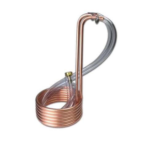 Mini Copper Immersion Wort Chiller for Small Batch Brewing