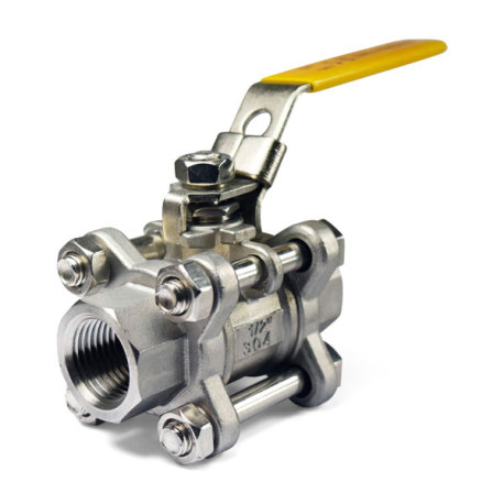 1/2 in. Stainless Steel 3-Piece Ball Valve