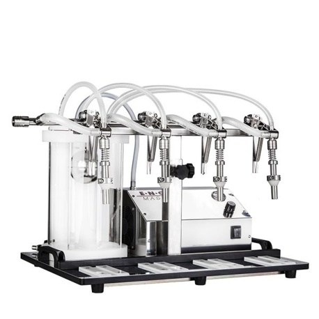 Enolmaster 4 Head Automatic Bottle Filler for Wine and Dry Spirits with Pyrex Vessel