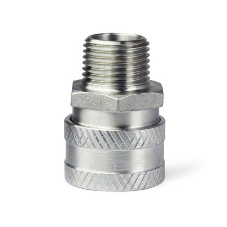 1/2 in. MPT Stainless Female Quick Disconnect