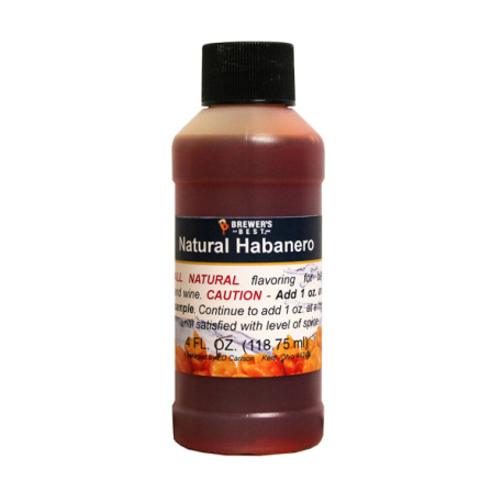 Habanero Natural Flavoring, 4 fl oz.