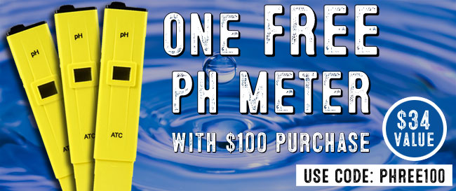 FREE pH Meter with $100 Purchase