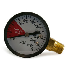 Regulator Gauge - Tank Pressure LHT