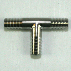 "Stainless Steel 1/4"" Tee All Sides"