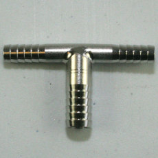 "Stainless Steel 3/8"" x 1/4"" x 1/4"" Tee"