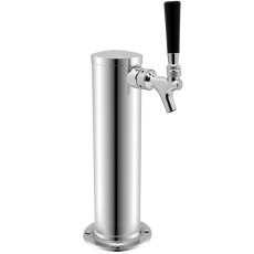 3 in. Single Tap Draft Beer Tower w/Standard Faucet