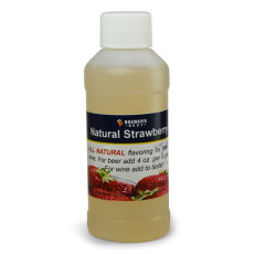 Strawberry Natural Flavoring, 4 fl oz.
