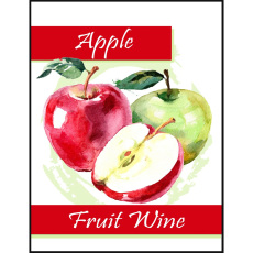 Apple Fruit Wine Self Adhesive Wine Labels, pkg of 30