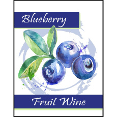 Blueberry Fruit Wine Self Adhesive Wine Labels, pkg of 30
